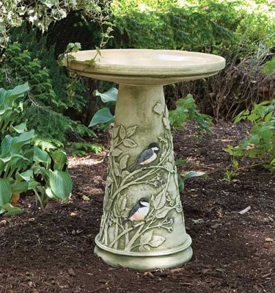 Chickadee Bird Bath Set