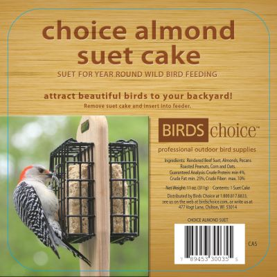 Choice Almond Suet Cake - Case of 12