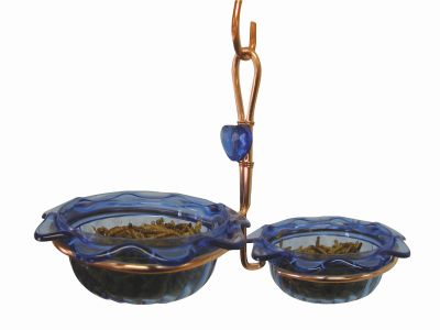 Copper Double Cup Bluebird Feeder | Birds Choice #CDC-BLUE