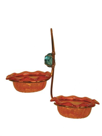 Copper Double Cup Oriole Bird Feeder | Birds Choice #CDC-ORANGE