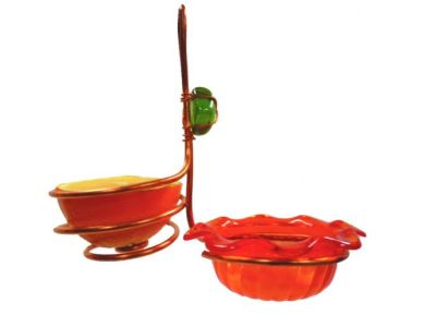 Copper Single Cup/Fruit Oriole Bird Feeder | Birds Choice #CSCF-ORANGE