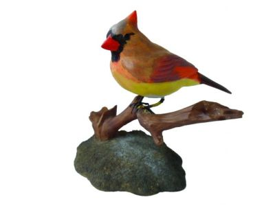 Northern Cardinal Carving - Female