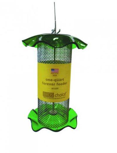 1 Quart Forever Nyjer Thistle Feeder - Green | Birds Choice #FF112A