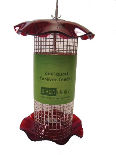 1 Quart Sunflower Forever Tube Feeder-Red | Birds Choice #FF114