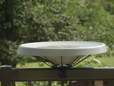 Heated Bird Bath-Deck Mounted-Green | Birds Choice #HDECK-GR