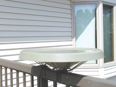 Heated Bird Bath-Deck Mounted-White | Birds Choice #HDECK-WH