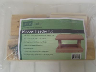 Cedar Hopper Feeder Kit-Unassembled | Birds Choice #HFKIT
