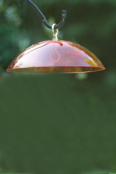 Orange Dome w/Brass Hanger & Hook | Birds Choice