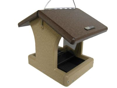 1-1/2 Qt. Hopper Wild Bird Feeder -Brown Roof | Birds Choice #SN100B