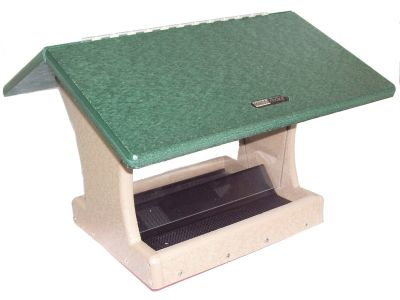7 Quart 2- Sided Hopper Wild Bird Feeder - Green Roof | Birds Choice SN300