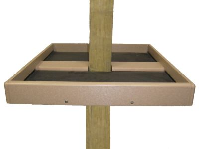 23 x 21-1/2 Seed Catcher-Recycled open platform designed for 4x4 post | Birds Choice #SN4X4SC