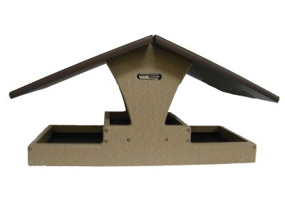 Recycled Double Decker Hopper Platform Bird Feeder | Birds Choice - Brown Roof #SNDDB