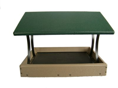 17 X 16 Fly-Thru Platform Bird Feeder - Green Roof - Birds Choice  #SNFT-300