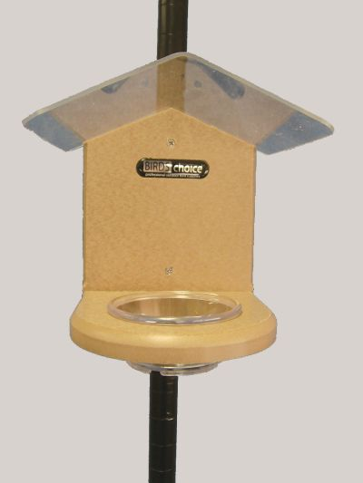 Pole-Mounted Mealworm Feeder w/Roof | Birds Choice #SNMW