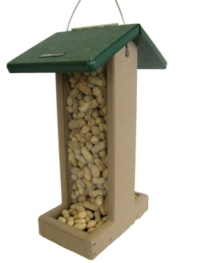 Recycled Bluejay  Feeder-Green Roof | Birds Choice #SNPN