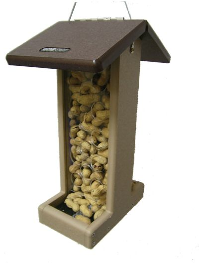 Recycled Bluejay  Feeder-Brown Roof | Birds Choice #SNPNB