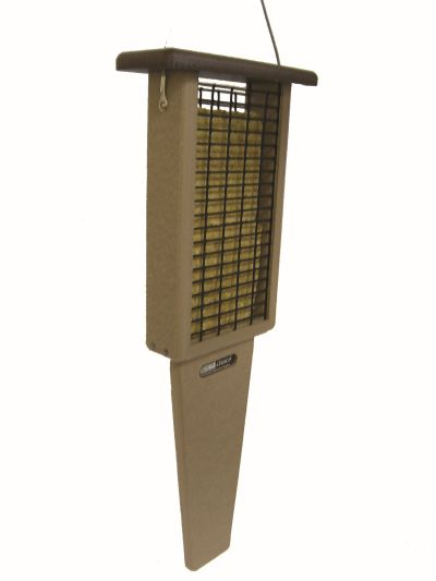 Double Cake Pileated Suet Feeder -Brown Roof | Birds Choice #SNPSB