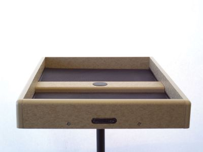21-1/2 x 21-1/2 Catch-A-Seed Platform  Recycled open platform designed for round pole