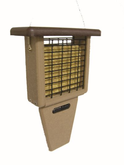Single Cake Tail Prop Suet Feeder -Brown Roof | Birds Choice #SNTPB