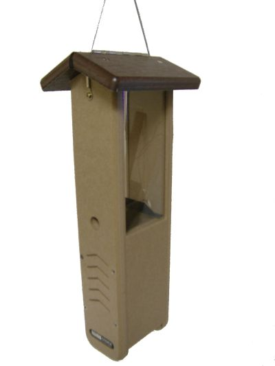 Recycled  Woodpecker Feeder-Brown Roof  | Birds Choice #SNWPB