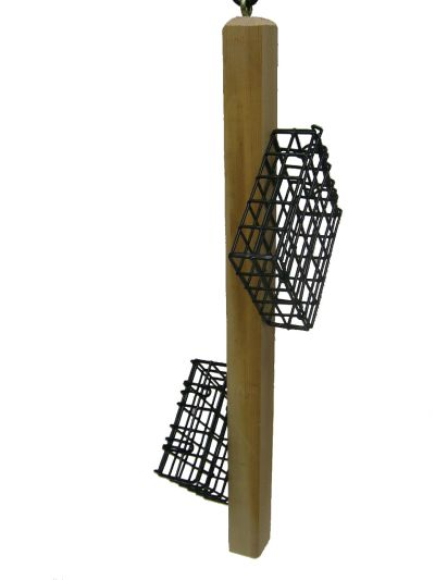 Suet Feeder Cedar Stick with 2 Suet Cages |  Birds Choice #WCSTICK