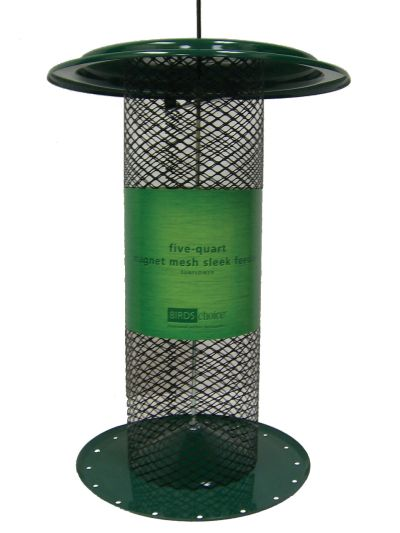 5 Quart Magnet Mesh Sleek Sunflower Feeder ? Green | Birds Choice #XMS700