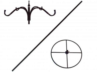 Patio, Deck or Pool Side 80 inch Pole System for Feeders, Candles, Lighting, Hanging Baskets
