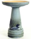 Great Northern Loon Bird Bath Set (Lock-On Top)