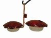 Copper Double Cup Hummingbird Feeder | Birds Choice #CDC-RED