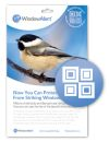 WindowAlert Modern Square Decals (Pack of 4)