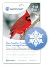 WindowAlert Snowflake Decals (Pack of 4)