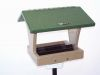 Med. Hopper Bird Feeder, Seed Catcher, Pole System w/ Squirrel Baffle Combo #13